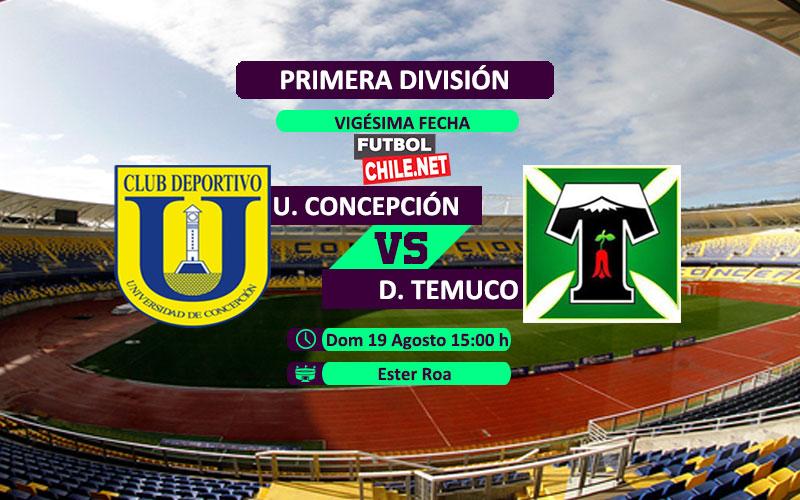 Mira Universidad de Concepción vs Deportes Temuco en vivo y online por la Primera División Chile