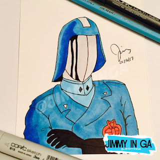 "Cobra Commander (Masked) - Copic Makers on 4.5"" x 6"" Marker Paper"
