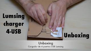 Unboxing del cargador USB de 4 puertos Lumsing