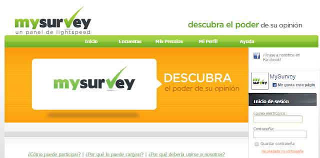 MYSURVEY, PAGINA DE ENCUESTAS PARA ESPAÑA