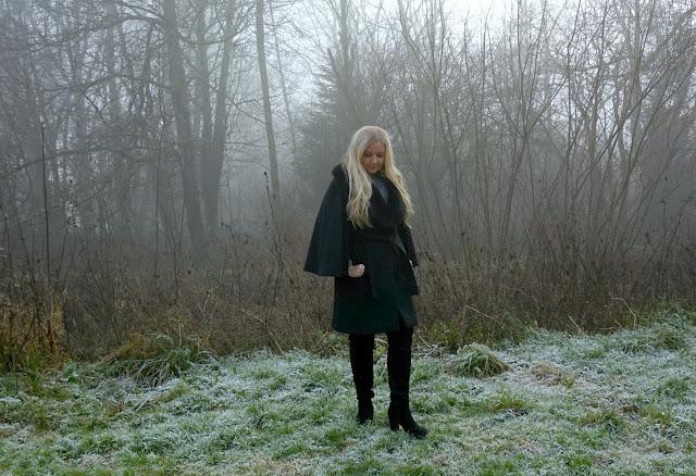 Karen Millen Belted Cape Coat - OOTD