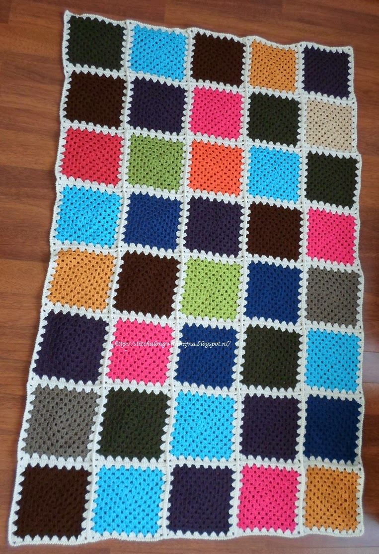 Cross Stitch A Long With Mijna Granny Square Blanket