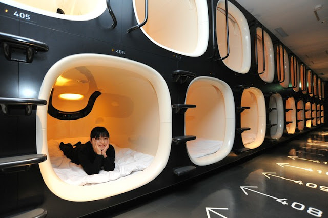 Rooms of Capsule Hotel