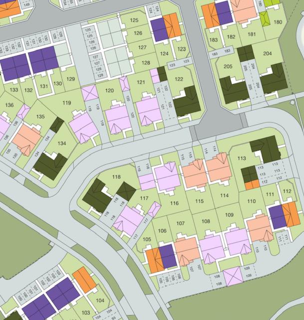 Tranby Fields plot plan