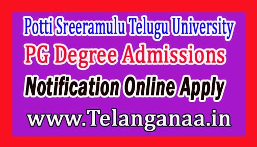 PSTU Telugu University PG Degree Admissions Notification 2017-18