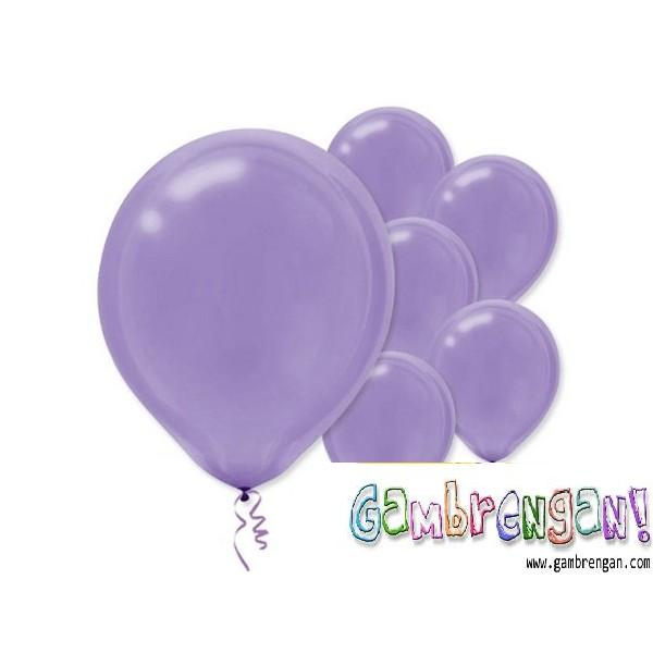 Balon dekorasi Ungu Muda