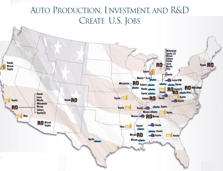 Anese Automakers Employ 407 000 Americans At 63 Facilities And Hundreds Of Auto Dealerships