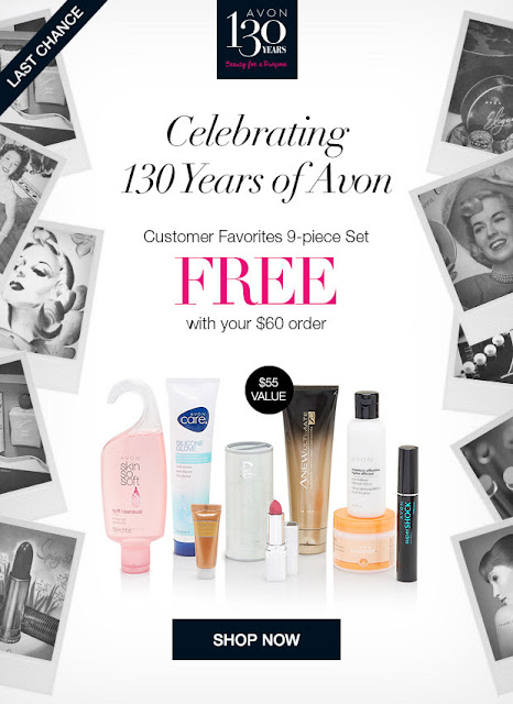 Get this Customers Favorites 9-piece set FREE with your $60+ Avon purchase! Shop https://jenbertram.avonrepresentative.com/