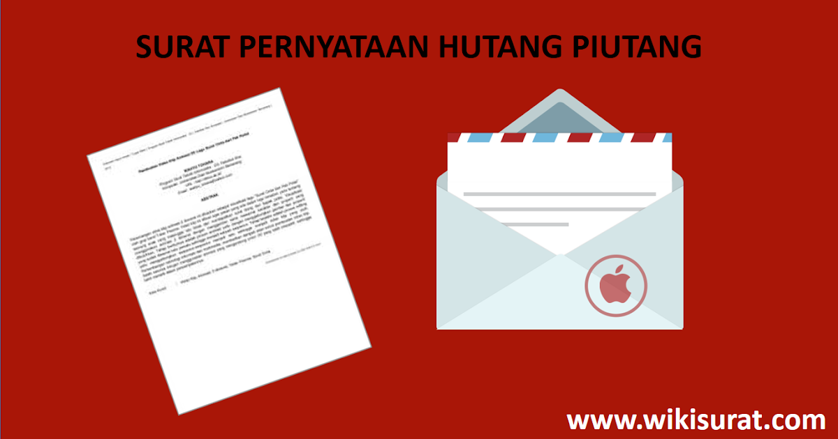 Contoh Surat Pernyataan Hutang Piutang dan Kesanggupan ...