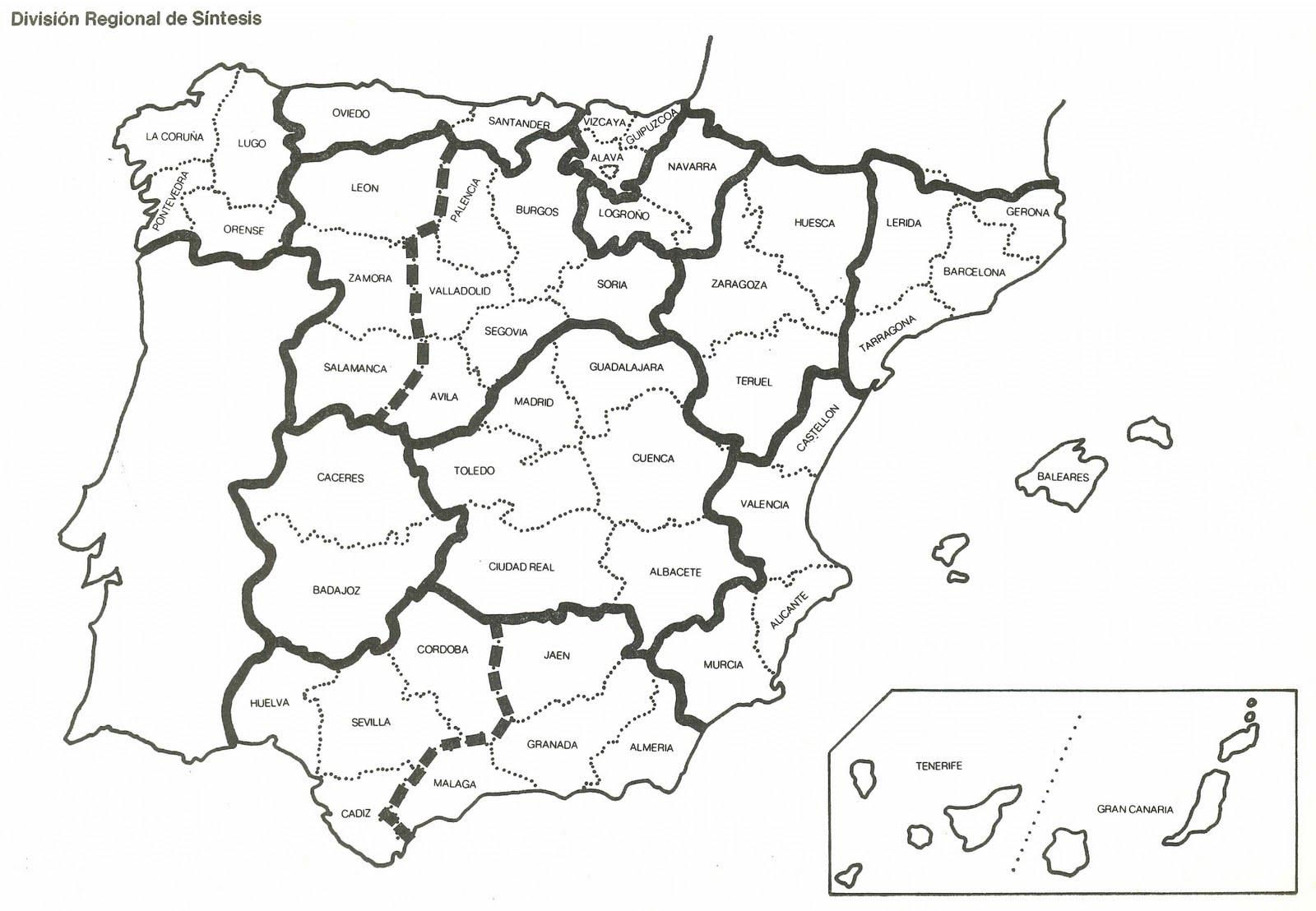 Mapa De España Colorear.Mapa Espaa Provincias