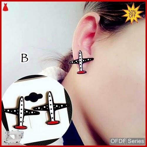 OFDF275 Aksesoris Ear Rings Korean Aeroplane B BMGShop