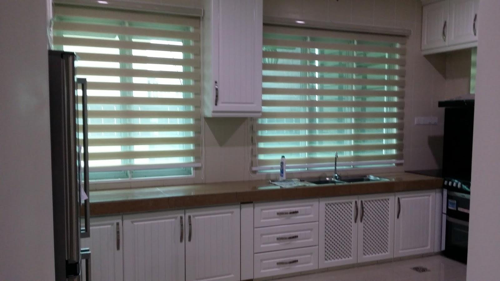 Pemasangan Langsir Di Ruang Keluarga Family Area Zebra Blinds Dapur