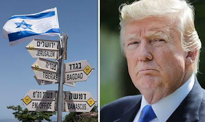 US Will Recognise Israel's Sovereignty Over Golan Heights