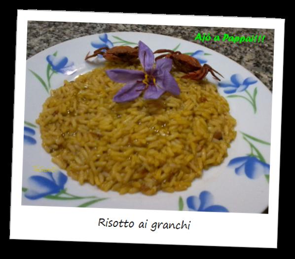 Fotografia del piatto risotto ai granchi