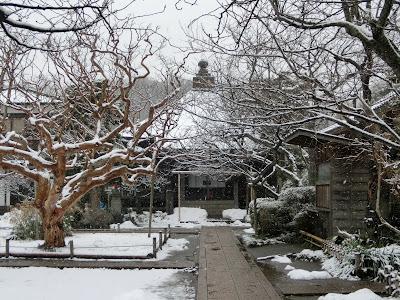 極楽寺の雪景色