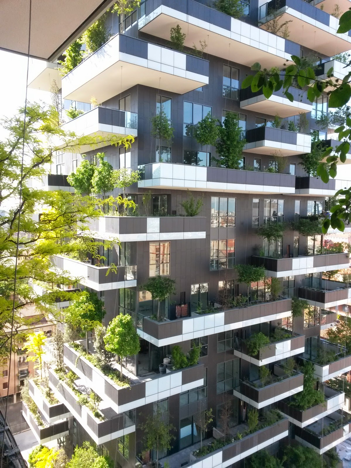 Urbanfile milano zona isola panorama dal bosco verticale for Giardino verticale