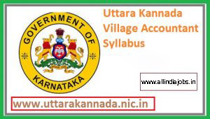 Uttara Kannada Village Accountant Syllabus