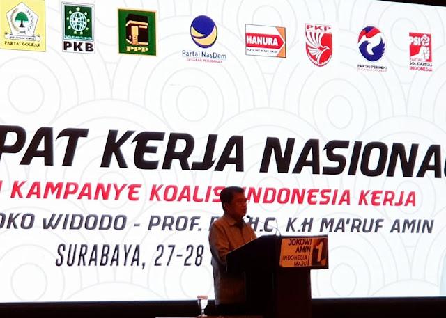 Takut seperti Hillary Clinton, JK Peringatkan Kubu Jokowi Tak Kepedean dengan Survei