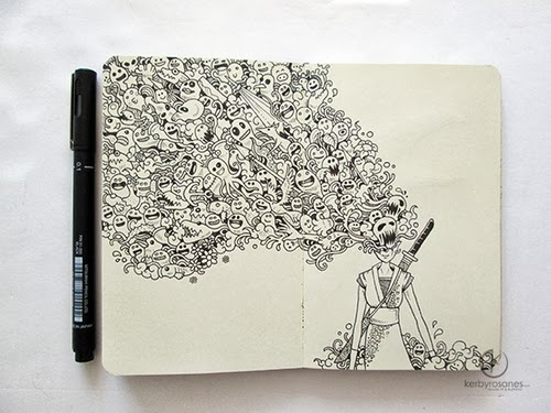 06-Onna-Bugeisha-Filippino-Artist-and-Illustrator-Kerby-Rosanes-Pen-Doodles-www-designstack-co