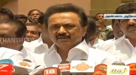 M. K. Stalin's Press Meet on Farmers Suicide and Power Cut | Thanthi TV