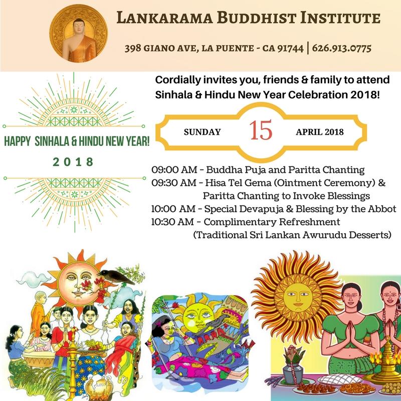 Sinhala & Hindu New Year Blessing - Dhamma USA