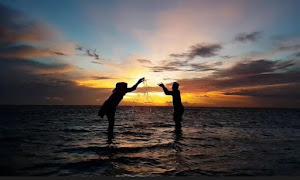 menyaksikan sunrise dalam wisata pulau tidung