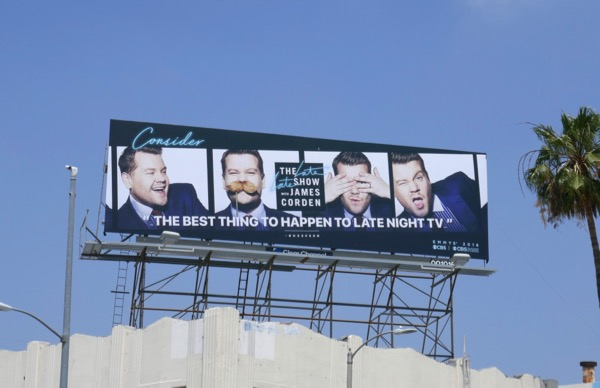 James Corden 2018 Emmy billboard