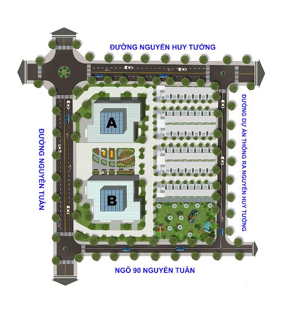 Mặt bằng tổng thể dự án Thống Nhất Complex