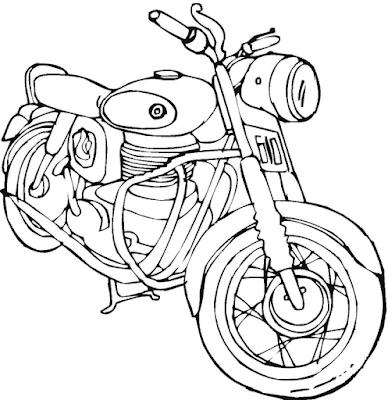 Gambar mewarnai sepeda motor - 5