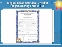 Bingkai Ijazah SMP dan Sertifikat Piagam Kosong Format PDF