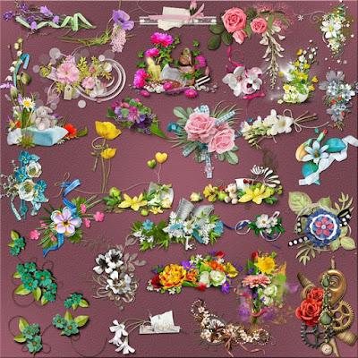 Fantastic flower clusters png