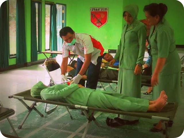 Persit Kodim 1508/Tobelo Gelar Donor Darah