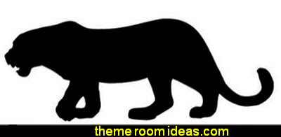 Animal Silhouette Leopard wall decal