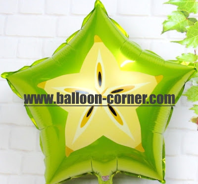 Balon Foil Potongan Buah Belimbing