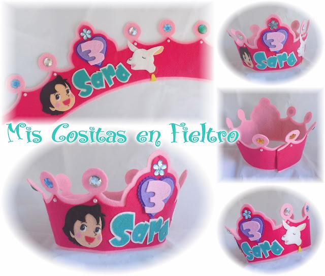 corona de cumpleaños, niños, corona de fieltro, fiesta, felt crown, coroa, feltro, aniversario, Heidi, Heidy, Copito de nieve
