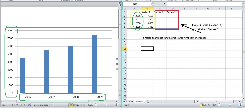 Cara membuat diagram batang di microsoft word excel sinau komputer cara membuat diagram batang ccuart Images
