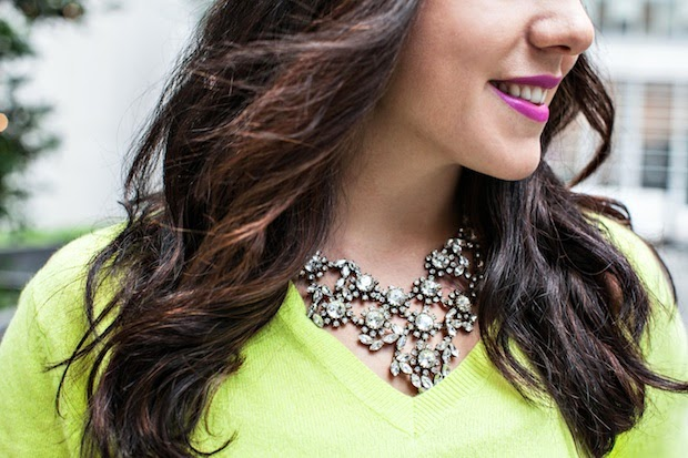 J.Crew rhinestone bib necklace