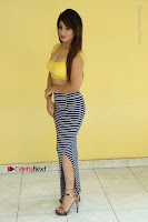 Cute Telugu Actress Shunaya Solanki High Definition Spicy Pos in Yellow Top and Skirt  0091.JPG