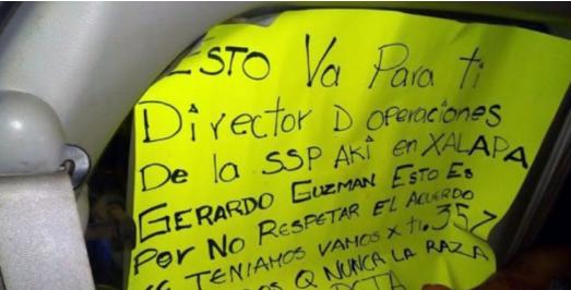 """""""Por no respetar acuerdos"""", """"La 35-Z"""" abandona 9 cuerpos """"descuartizados"""" con advertencia esto va para ti Gerardo Guzmán"""