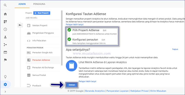 Cara Menautkan Google Analytics dengan Google Adsense