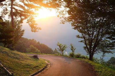 高津屋森林公園の朝日