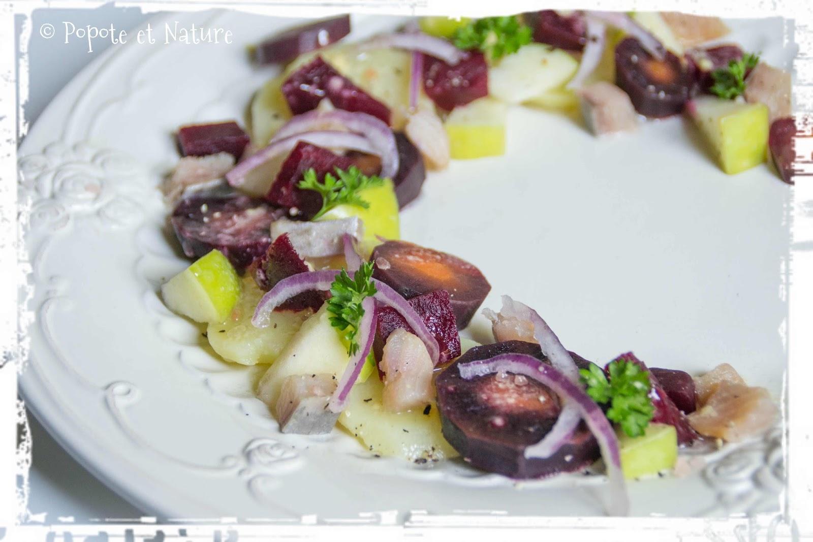 popote et nature revisite de la salade de harengs la nordique battle food 42. Black Bedroom Furniture Sets. Home Design Ideas