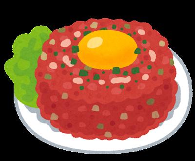 タルタルステーキのイラスト