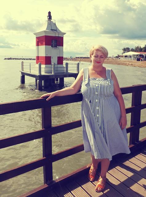 włoskie wakacje - marynarska sukienka retro