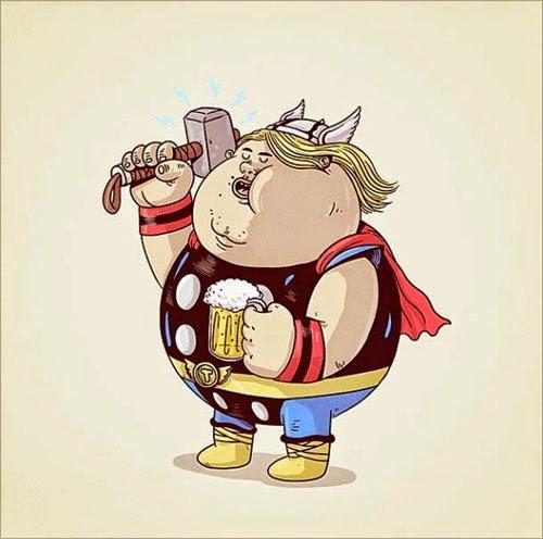 Fat Super Hero Gemuk - marvel Fat Thor