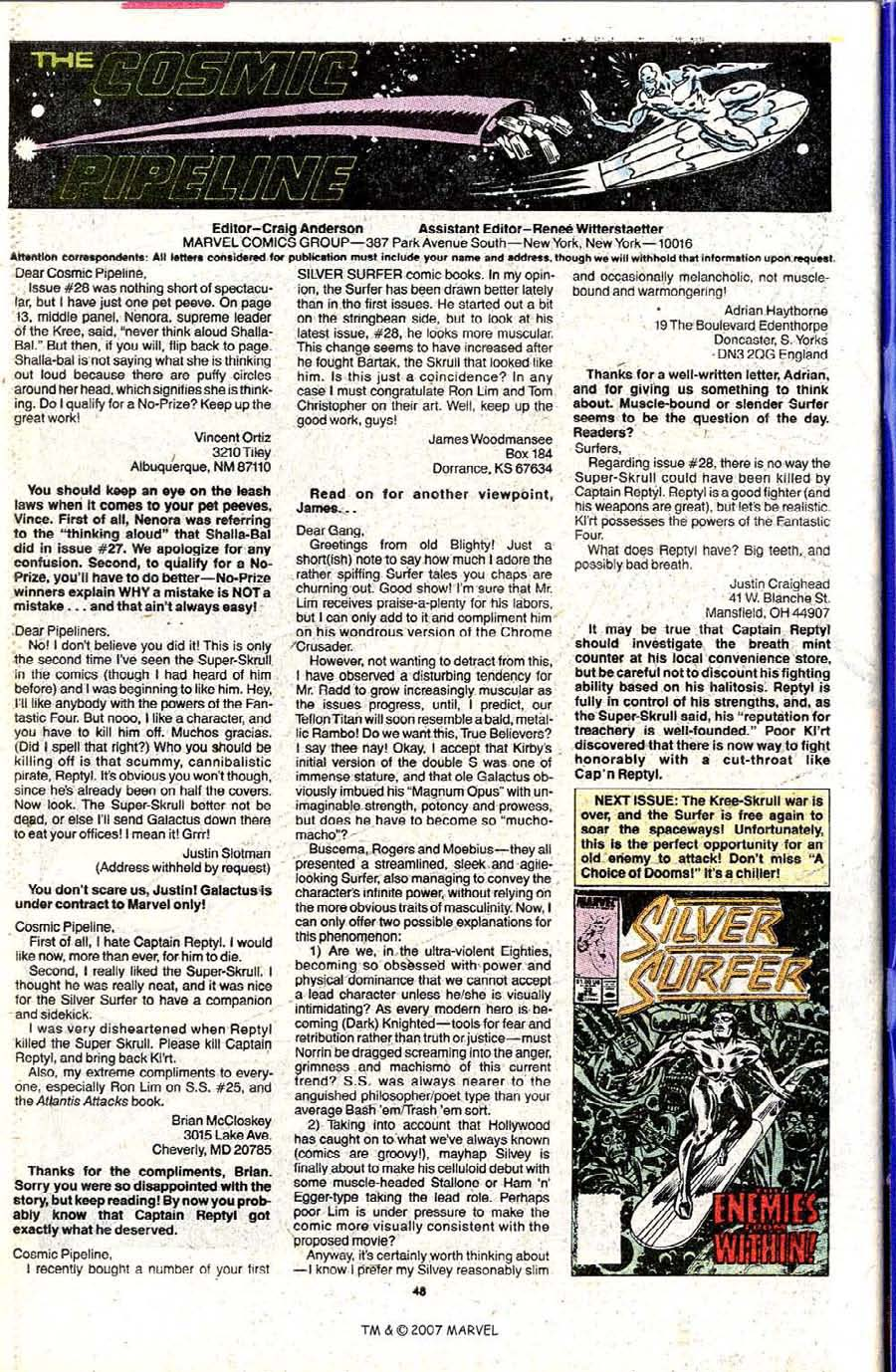 Read online Silver Surfer (1987) comic -  Issue #31 - 50