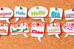 Change Language to English On Facebook