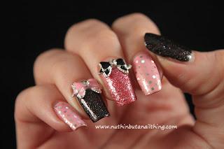 glitter sparkle nail art