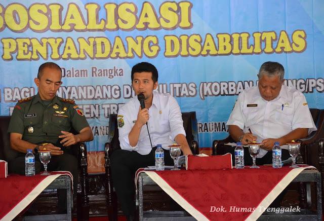 Ajak Semua Element, Pemkab Trenggalek Sosialisasikan Pengampu Pelayanan Disabilitas Menuju Trenggalek Bebas Pasung 2019