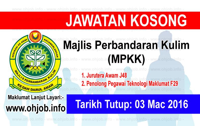 Jawatan Kerja Kosong Majlis Perbandaran Kulim (MPKK) logo www.ohjob.info mac 2016